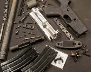 Spare parts to build an AR-15