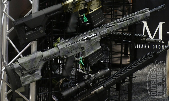 Nemo .458 Winchester Magnum AR rifle. This non-production rifle is suitable for hunting elephants!
