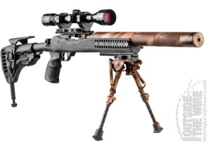 Heavily Modified Factory Stock on IDF 10/22 Sniper Rifle.