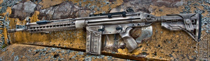 The finished rifle has a unified battle-worn appearance, but is completely modernized with military-grade accessories.