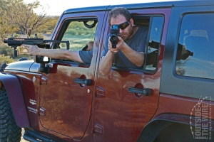 A passanger armed with a carbine in a rear seat can effectively engage targets toward the rear of the vehicle.